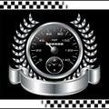 Speedometer racing shield Royalty Free Stock Photo
