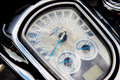 Speedometer retro on motorcycle Royalty Free Stock Image