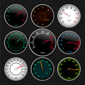 Speedometer and RPM gauges Royalty Free Stock Photography