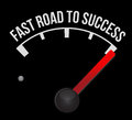 Speedometer scoring fast road to success Royalty Free Stock Photo
