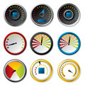 Speedometer set for downloads Royalty Free Stock Image