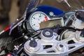 Speedometer sports bike Royalty Free Stock Photo