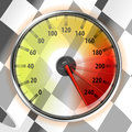 Speedometer with Top Speed Royalty Free Stock Image