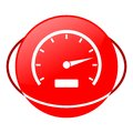 Speedometer vector illustration, Red icon