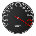 Speedometer on white background. Isolated 3D image Royalty Free Stock Image