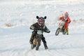 Speedway rider Royalty Free Stock Photo