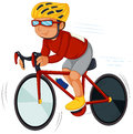 A speedy biker illustration of on white background Royalty Free Stock Photography