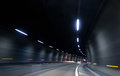 Speedy fast motion in dark tunnel Royalty Free Stock Images