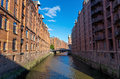 The speicherstadt in hamburg famous old germany Royalty Free Stock Images