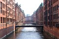 Speicherstadt hamburg historic harbor storage buildings in the area of germany Stock Photography