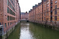 Speicherstadt a view of the hamburg germany Royalty Free Stock Image