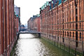 Speicherstadt a view of the hamburg germany Stock Image