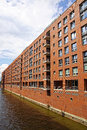 Speicherstadt warehouse district in hamburg famous germany Royalty Free Stock Photo