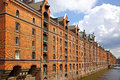 Speicherstadt warehouse district in hamburg famous germany Stock Photo