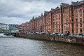 Speicherstadt warehouse district in hamburg germany Royalty Free Stock Image