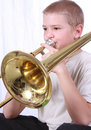 Speler 1 van de trombone Stock Foto's
