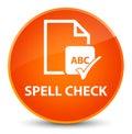 Spell check document elegant orange round button