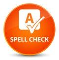 Spell check elegant orange round button