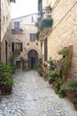 Spello, old street Stock Photo
