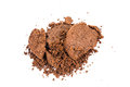 Spent or used coffee grounds on white background Royalty Free Stock Image