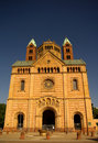 Speyer Cathedral main facade, Germany Royalty Free Stock Images
