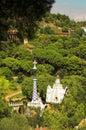 Spezia-agglutini le case in sosta Guell da Antoni Gaudi Immagini Stock Libere da Diritti