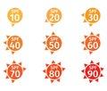 Spf 10 to 90 logo