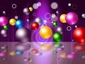 Sphere Bouncing Represents Colourful Spheres And Vibrant Royalty Free Stock Photo
