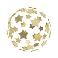 Sphere composition made of golden stars isolated Royalty Free Stock Photo