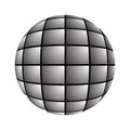 Sphere consists of a plurality of gray screens for designers for various necessities Stock Photography