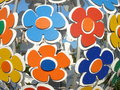 Sphere of flowers design on geroyev avenue in the city volgograd Stock Image