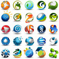 Sphere icons Stock Images