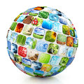 Sphere of images Royalty Free Stock Photo