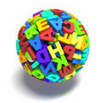 Sphere of letters Stock Image