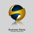 Sphere logo modern logotype design Royalty Free Stock Photography
