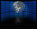 Sphere planet earth of video screens Royalty Free Stock Image