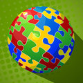 Sphere puzzle background Royalty Free Stock Photos