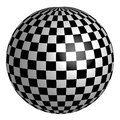 Sphere with square pattern on surface, vector chess planet earth Royalty Free Stock Photo