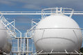 Sphere storage tank Stock Images
