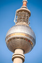 The sphere of the tv tower in berlin closeup image germany Stock Image