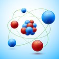 Spheres abstract set red blue balls shadows vector illustration Royalty Free Stock Photography