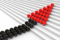 Spheres on the stair. Leadership concept. Royalty Free Stock Photo