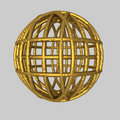 Spherical gold Cage Stock Images