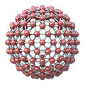 Spherical molecular grid Stock Images