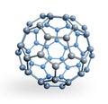 Kulový molekula scéna vykreslená na základě počítačového modelu