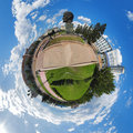 Spherical panorama of Ulan-Ude central square Royalty Free Stock Photos