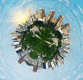 Spherical panorama view on Moscow Stock Photo