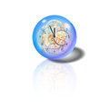 Spherical watch glass clock mechanism clip art Stock Photography