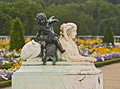 Sphinx and Cupid Royalty Free Stock Photo