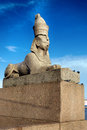 Sphinx on embankment of the river neva in st perersburg russia Stock Photo